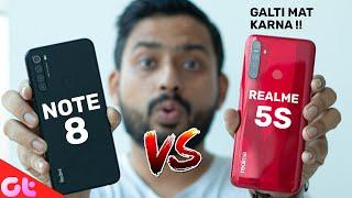 Realme 5s vs Redmi Note 8 Full Comparison with Camera and Gaming | GALTI MAT KARNA | GT Hindi