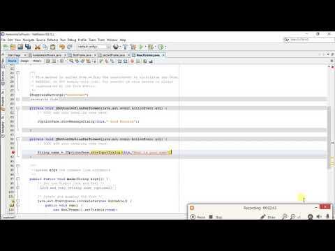 NetBeans Tutorial - 3 - JOptionPane Class (Message Dialog, Input Dialog, Confirm Dialog)