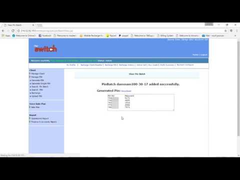 How to make internet calling card | Ital switch training