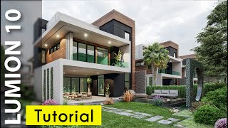 Lumion 10 Realistic Render Tutorial #21 Modern House