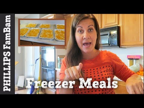 COOK WITH ME | CRACKED OUT CHICKEN TATER TOT CASSEROLE | 8 FREEZER MEAL EXCHANGE  | FamBam
