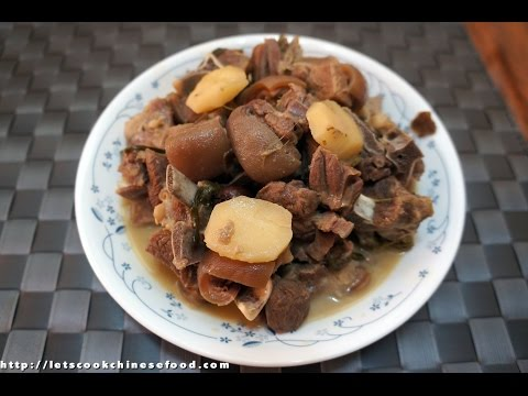 Chinese Recipe : Braised Mutton with Fermented Tofu