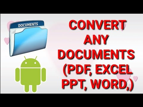 How to convert any document files(PDF,WORD,EXCEL,PPT,TEXT FILE)