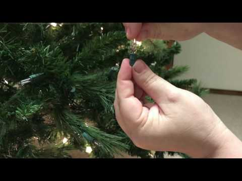 How To Replace A Single Light On A Pre-lit Christmas Tree