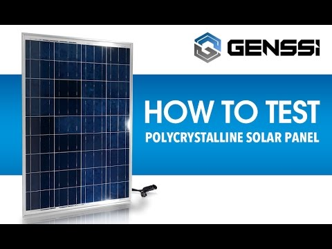 How to Test a Solar Panel Voltage and Current