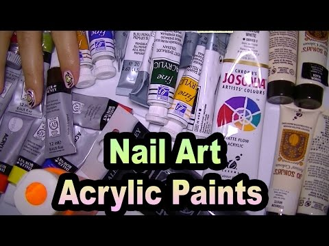 My Acrylic Paints For Nail Art,Tips and Tricks,Brands And Recommendations