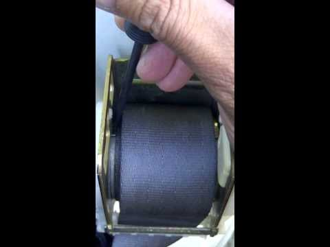 How to fix locked seat belt retractor
