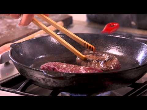 Venison Steaks with Balsamic Jus - Annabel Langbein