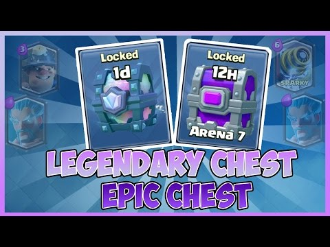 Clash Royale: Opening Legendary + Epic Chest