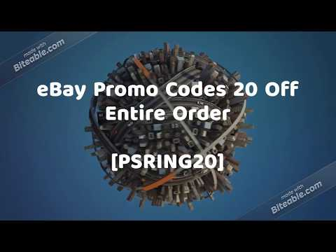 $15 Off eBay Promo Code #Free Shipping 20 Off Entire Order 2018