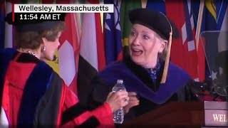 WATCH AS HILLARY'S MYSTERIOUS COUGH RETURNS AND DERAILS HER COMMENCEMENT SPEECH