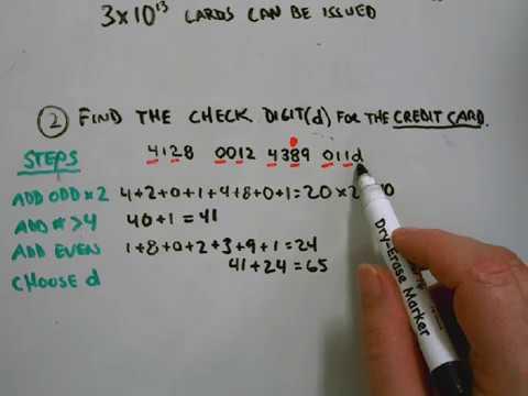 AMDM credit card verification -Check digit