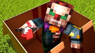 I MAILED MYSELF In A BOX To A KILLER CLOWN!! In Minecraft