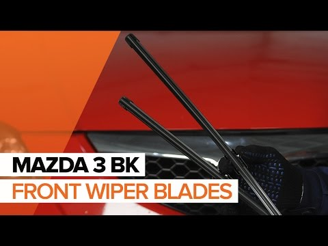 How to replace front wipers blades on MAZDA 3 BK TUTORIAL | AUTODOC