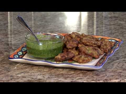 Zucchini Fritters with Pistou Sauce