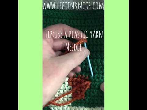 Cross Stitching on Crochet