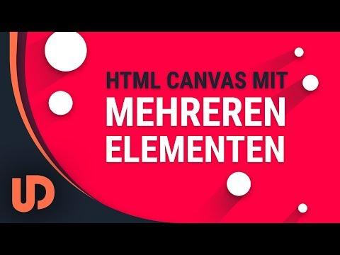 HTML Canvas mehrere Elemente erschaffen mit JavaScript! [TUTORIAL]