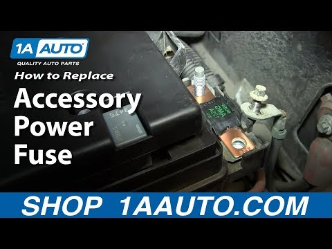 Install Replace Main Accessory Power Fuse if your power windows doors mirrors etc are not working