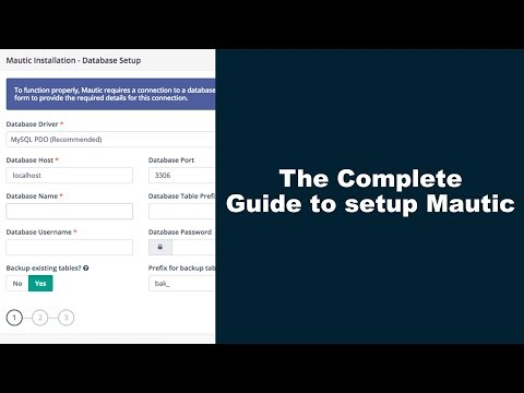 The Complete Guide to setup Mautic