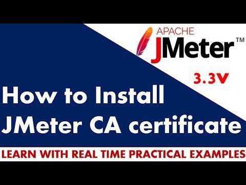 JMeter Tutorial | How to install jmeter CA certificate for https recording