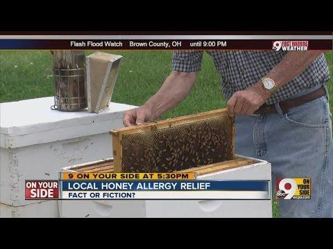 Local honey allergy relief