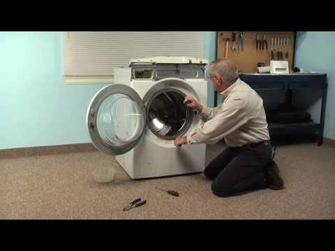 Washing Machine Repair - Replacing the Drain Pump (LG Part # 4681EA2001T)