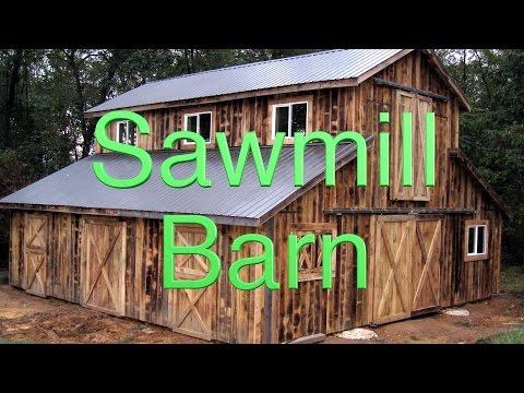 Building a pole barn for my sawmill. FarmCraft101