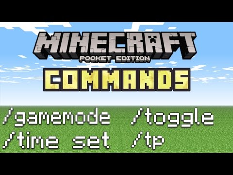 Minecraft PE - How To Use Commands! (Basic Commands Tutorial!)