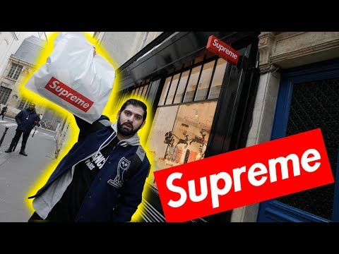 SHOPPING INSIDE SUPREME PARIS!! *THEY HAD SO MUCH HEAT*