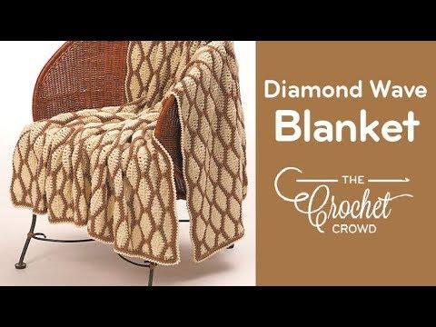 How to Crochet Diamond Wave Afghan