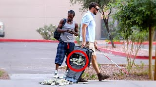 BLIND MAN DROPPING $1,000,000 PRANK!!
