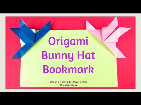 Easter Crafts - Origami Rabbit / Origami Bunny Bookmark & Hat - Easy Paper Crafts for Kids Classroom