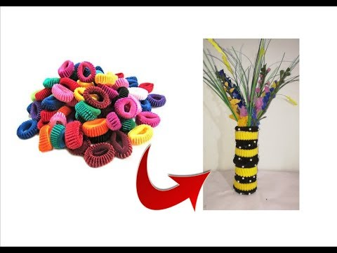 Reuse idea with hair rubber bands | Best out of waste materials
