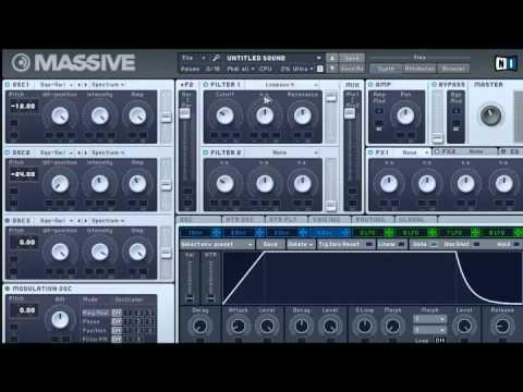 Deep Electro Synth Bass Tutorial (NI Massive)