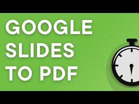 Convert Google Slides to PDF (2018)