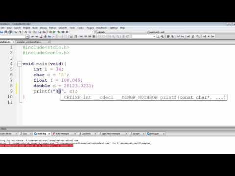 C Programming Tutorial | Character & Float Format Specifiers | Chap-2 | Part-11