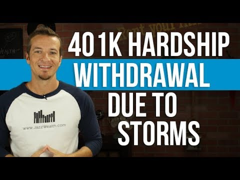 401k hardship withdrawal due to storms. DO NOT DO THIS!