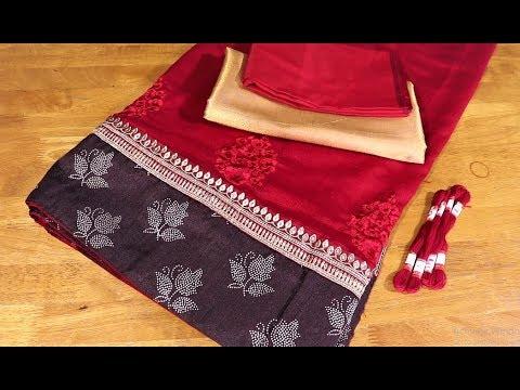 Paithani saree blouse back neck design|cutting and stitching