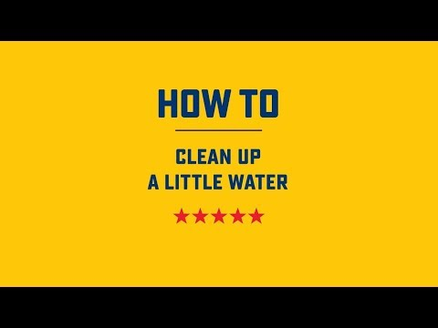 How to Clean up a Little Water | Roto-Rooter