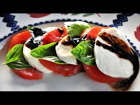 caprese salad recipe - How To Make Caprese Salad with Balsamic Reduction