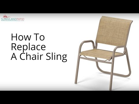 How To Replace A Chair Sling