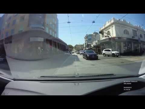 Dangerous RED light runner in Melbourne. Mini FHD Camera