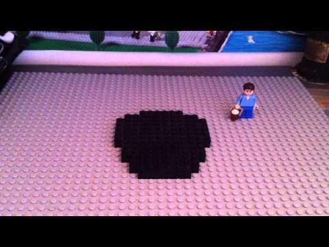 How to build a Lego Minecraft bucket of milk