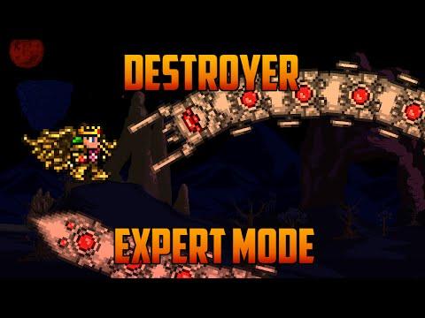 Terraria 1.3 - The Destroyer, Expert Mode Boss Battle