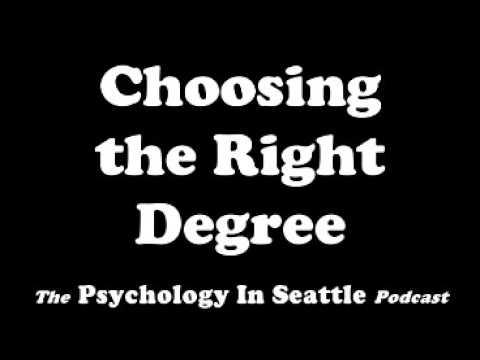 Choosing the Right Degree