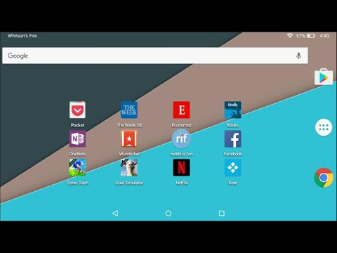 How to Use a Different Home Screen Launcher on the Amazon Fire Tablet (Without Rooting It)