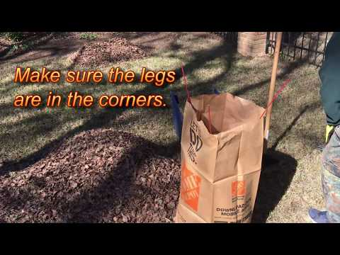Quickly Fill Standing Leaf Bag