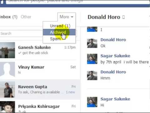 How to not show read message on facebook