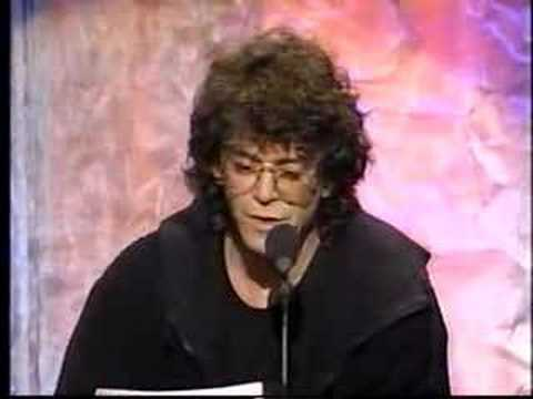 Lou Reed Inducts Frank Zappa