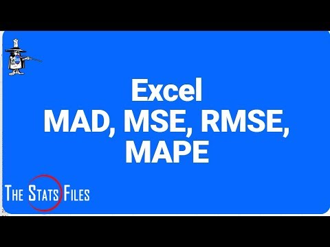 Use Excel to Calculate MAD, MSE, RMSE & MAPE